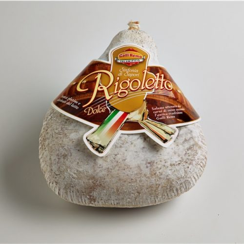 Nuovo Rigoletto,salame di suino ottenuto da carni scelte Viadana Mantova